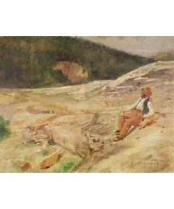 Gustave Courbet, Landscape (oil on panel)