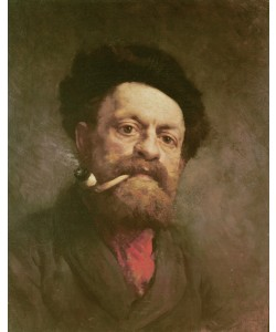 Gustave Courbet, Man with a Pipe (oil on canvas)