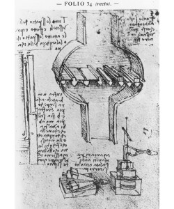 Leonardo da Vinci, Fol. 34r from Manuscript E, 1513-14 (pen & ink on paper)