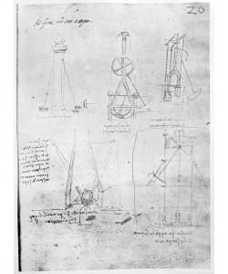Leonardo da Vinci, Fol. 20r from Paris Manuscript B, 1488-90 (pen & ink on paper)