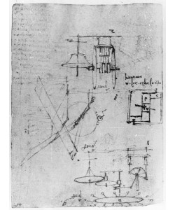 Leonardo da Vinci, Fol. 45r, from the Codex Forster III, 1480s-1494 (pen and ink on paper)