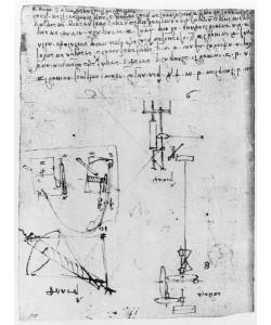 Leonardo da Vinci, Fol. 46v, from the Codex Forster III, 1480s-1494 (pen & ink on paper)