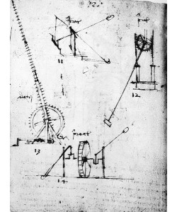 Leonardo da Vinci, A page from the Codex Forster, 1480s-1494 (pen & ink on paper)