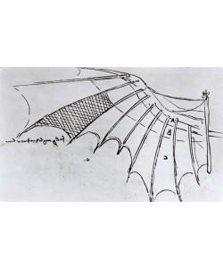 Leonardo da Vinci, M S B 2173 fol. 74r Studies of wing articulation, 1487-90 (pen & ink on paper)