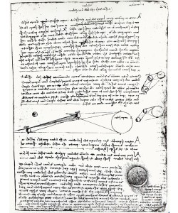 Leonardo da Vinci, Astronomical diagrams, fol. 2r from the Codex Leicester, 1508-1512 (pen & ink on paper) (b/w photo)