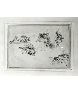 Leonardo da Vinci, Study of Horsemen in Combat, 1503-4 (pen and ink on paper)