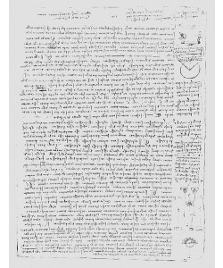 Leonardo da Vinci, Page from the Codex Leicester, 1508-12 (pen & ink on paper)