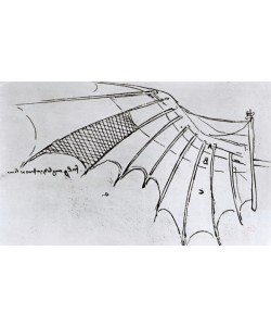 Leonardo da Vinci, M S B 2173 fol. 74r Studies of wing articulation, 1487-90 (pen & ink on paper)