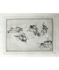 Leonardo da Vinci, Study of Horsemen in Combat, 1503-4 (pen and ink on paper)