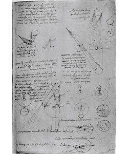 Leonardo da Vinci, Astronomical diagrams, from the Codex Leicester, 1508-12 (pen & ink on paper)