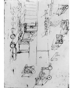 Leonardo da Vinci, Machine designs, fol. 367r-b (pen and ink on paper)
