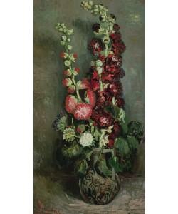 Vincent van Gogh, Vase of Hollyhocks, 1886 (oil on canvas)