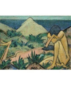 Otto Muller or Mueller, Nudes in Dunes, c.1919-20 (oil on canvas)