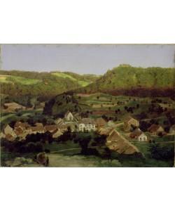 Arnold Bocklin, A View of the Village of Tenniken, 1846 (oil on canvas)