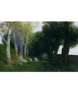 Arnold Bocklin, Sacred Grove, 1886 (oil on panel)