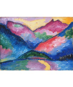 Alexej von Jawlensky, The Oy Valley, 1910 (oil on cardboard)