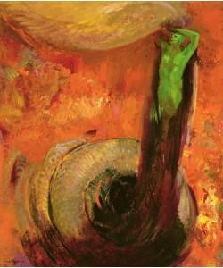Odilon Redon, Green Death, c.1905 (oil on canvas)