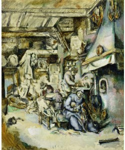 Paul Cézanne, Peasant Family in an Interior, painted after an etching by Adrian van Ostade (1610-1685)