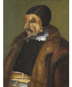 Giuseppe Arcimboldo, The Lawyer, 1566 (oil on canvas)