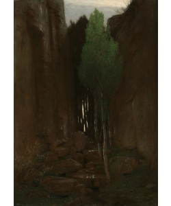Arnold Bocklin, Spring in a Narrow Gorge, 1881 (oil on canvas)