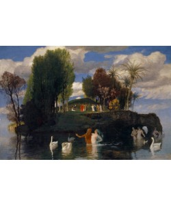 Arnold Bocklin, The Island of the Living, 1888 (oil on mahogany wood)