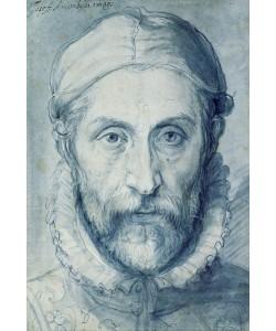 Giuseppe Arcimboldo, Selfportrait, 1570-79 (pen, brush and blue watercolor)