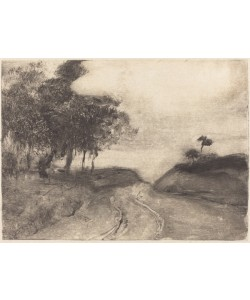 Edgar Degas, The Road (La route), c.1878-80 (monotype (black ink) on china paper)