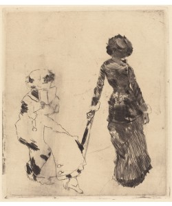 Edgar Degas, Mary Cassatt at the Louvre: The Etruscan Gallery, 1879-80 (soft-ground etching and drypoint on laid paper)