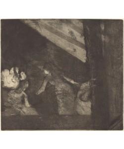 Edgar Degas, At the Cafe des Ambassadeurs (Aux Ambassadeurs), c.1877 (etching, aquatint, and drypoint)