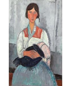 Amedeo Modigliani, Gypsy Woman with Baby, 1919 (oil on canvas)