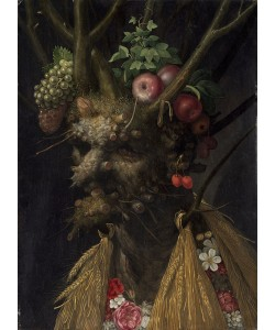 Giuseppe Arcimboldo, Four Seasons in the One Head, c.1590 (oil on panel)