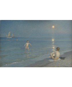 Peder Severin Kroyer, Boys Bathing at Skagen. Summer Evening, 1899 (oil on canvas)
