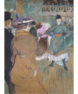 Henri de Toulouse-Lautrec, Quadrille at the Moulin Rouge, 1892 (oil on cardboard)