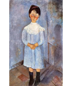 Amedeo Modigliani, Girl in Blue, 1918 (oil on canvas)