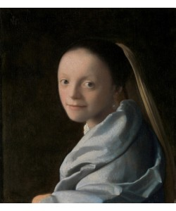 Jan Vermeer, Portrait of a Young Woman, c.1663-65 (oil on canvas)