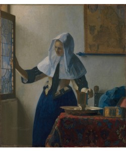 Jan Vermeer, Young Woman with a Water Jug, c.1662 (oil on canvas)