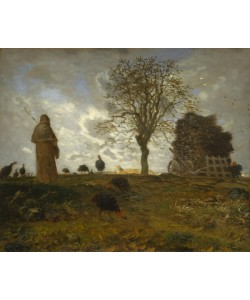 Jean-Francois Millet, Autumn Landscape with a Flock of Turkeys, 1872-73 (oil on canvas)