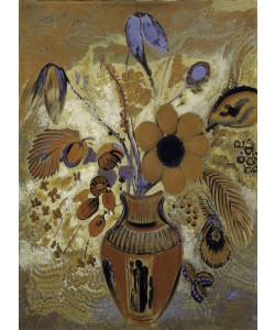 Odilon Redon, Etruscan Vase with Flowers, 1900-10 (tempera on canvas)