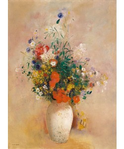 Odilon Redon, Vase of Flowers (Pink Background), c.1906 (oil on canvas)