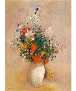 Odilon Redon, Vase of Flowers (Pink Background), c.1906 (oil on canvas)
