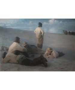 Peder Severin Kroyer, Summer Evening on the Beach at Skagen, 1884 (pastel on canvas)