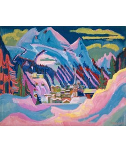Ernst Ludwig Kirchner, Davos in Winter, 1923 (oil on canvas)