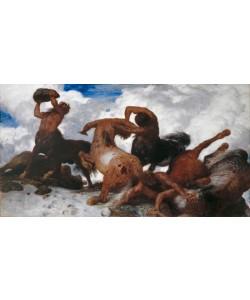 Arnold Bocklin, Battle of the Centaurs, 1872-73 (oil on canvas)