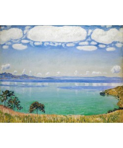 Ferdinand Hodler, Lake Geneva, Seen from Chexbres, 1905 (oil on canvas)