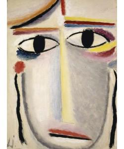 Alexej von Jawlensky, Female Head, 1919-20 (oil on cardboard)