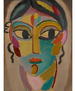 Alexej von Jawlensky, Mystical Head: Head of a Girl, 1918 (oil on cardboard)
