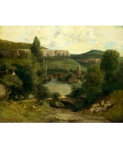 Gustave Courbet, View of Ornans, c.1850 (oil on canvas)