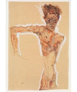 Egon Schiele, Self-Portrait, 1911 (w/c, gouache, and graphite on paper)