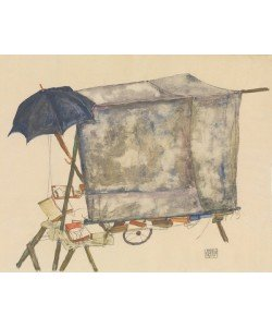 Egon Schiele, Street Cart, 1914 (w/c, gouache, and graphite on paper)