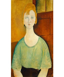Amedeo Modigliani, Girl in a Green Blouse, 1917 (oil on canvas)